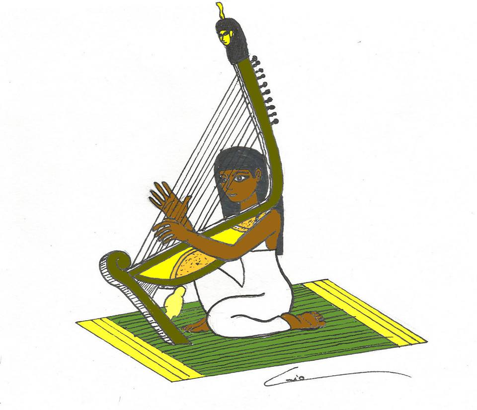 Harpista egipcia by kaiomello