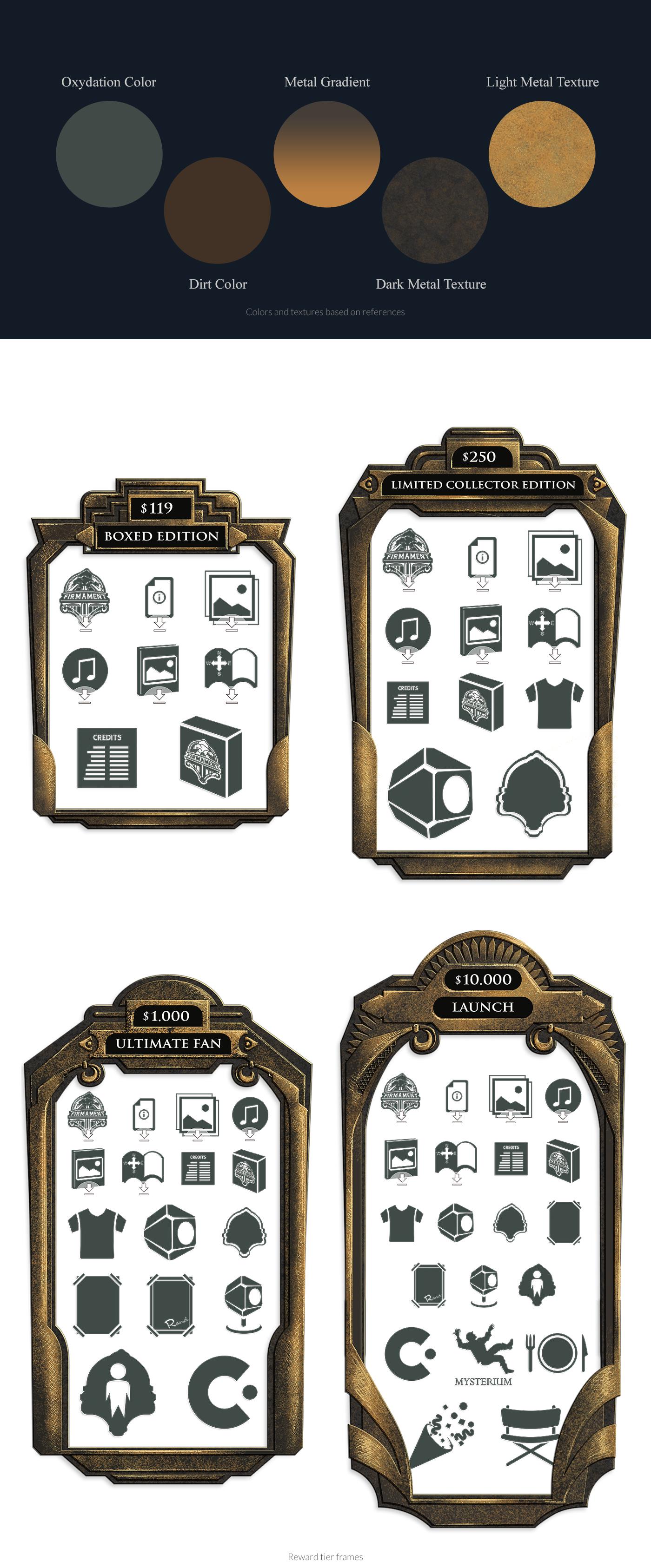 Firmament Kickstarter page Graphic Design