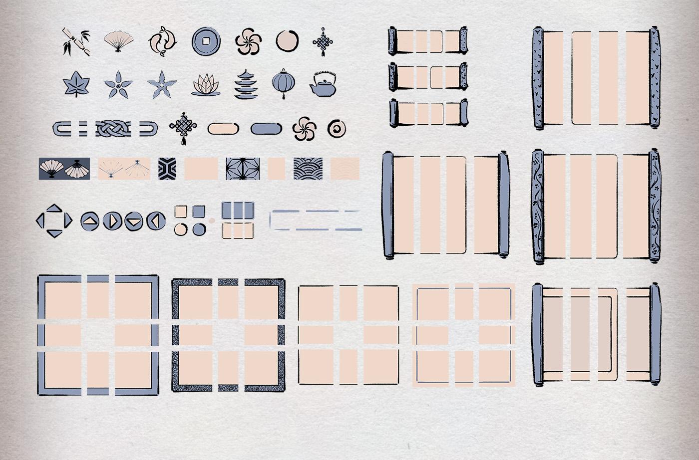 Hand-drawn Modular Ink UI - 1