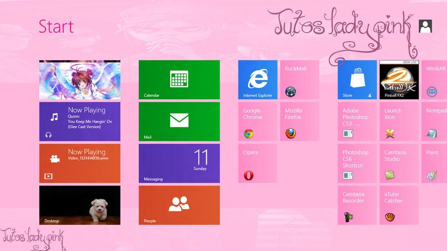 Menu de Windows 8 consumer by TutosLadyPink