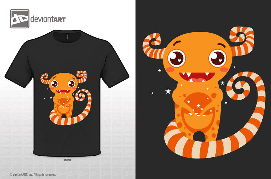 Cute monster t-shirt_01 by gokceguneren