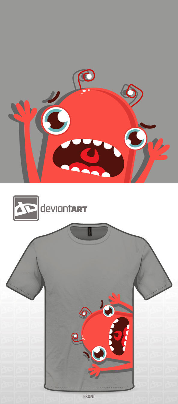 Cute monster t-shirt_03 by gokceguneren