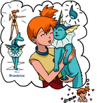 Misty dreams about Vaporeon by Bruedance