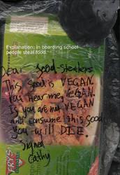 Vegan threats by no-children