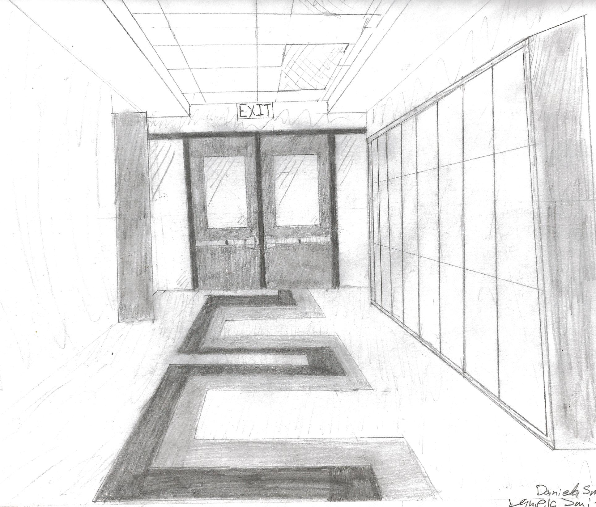 school hallway by bubblyellie on deviantart