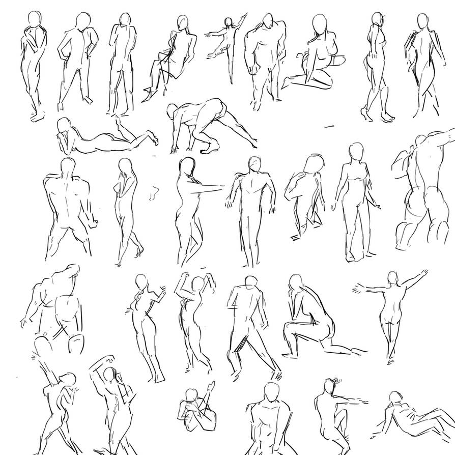 Human Poses by jingsketch on DeviantArt
