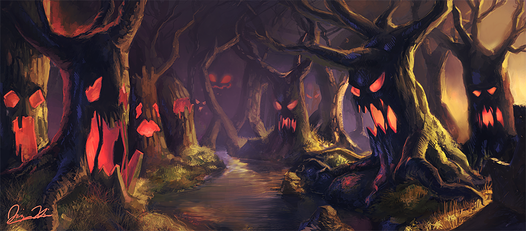 The Haunted Forest By Jingsketch On Deviantart