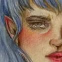 Petit dessin du soir, pour tester les crayons de couleurs.  Je suis pas super adroite avec :') mais c'est super sympa à faire ! La photo est pas de super bonne qualité...