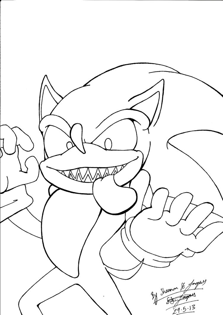 sonic exe lined by shannonxnaruto on deviantart