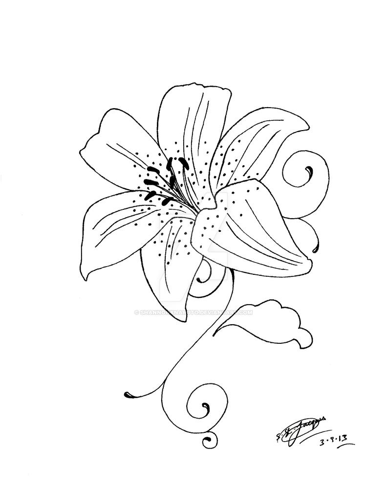 My tattoo design of a lily flower 3 by shannonxnaruto on deviantart my tattoo design of a lily flower 3 by shannonxnaruto izmirmasajfo