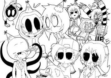 Chibi Creepypasta Party! :3 by ShannonxNaruto