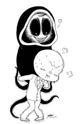 Chibi Creepypasta Piggy Back! :3 by ShannonxNaruto
