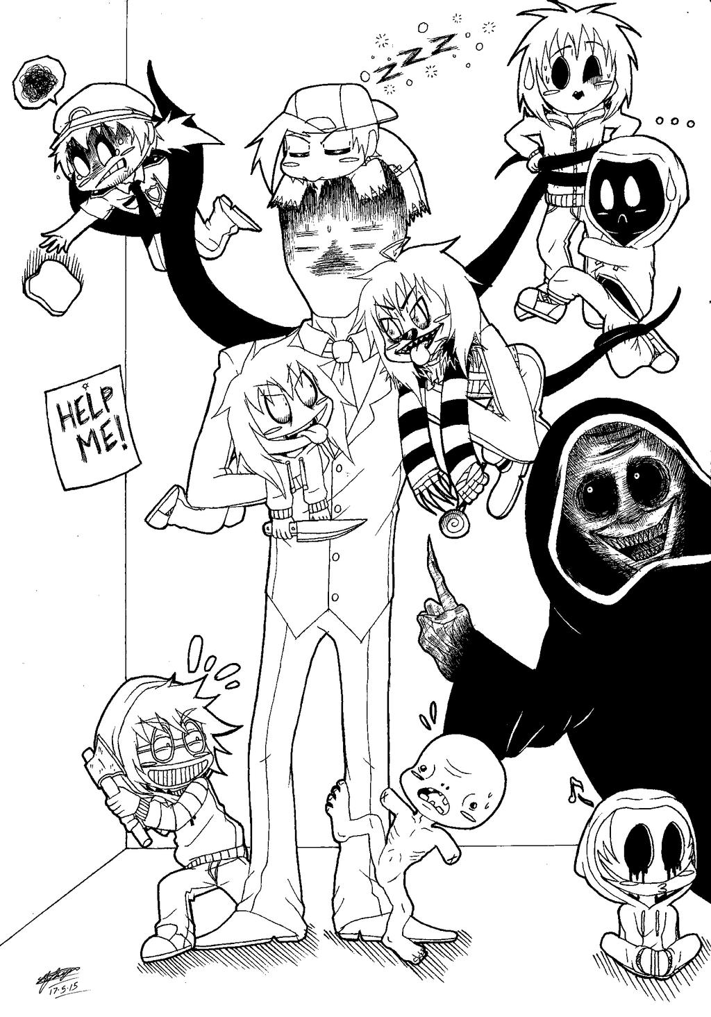 creepypasta coloring pages - chibi creepypasta mayhem 3 by shannonxnaruto on deviantart