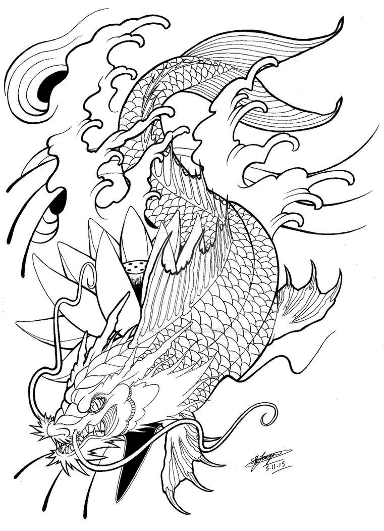 6761f468b3bae My Koi Dragon Tattoo Design! :3 by ShannonxNaruto on DeviantArt