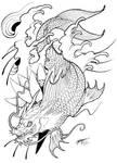 My Koi Dragon Tattoo Design! :3