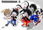 Run Chibi Youtubers, RUUUUUUUUUNNN! (Coloured.) :3