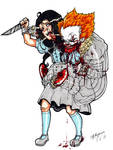 Olivia May VS Pennywise: Scarred For Life! :3 by ShannonxNaruto