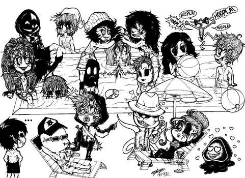 Chibi Creepypasta: Last Day Of Summer Fun.