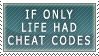 Life Cheat Codes Stamp by Mintoons