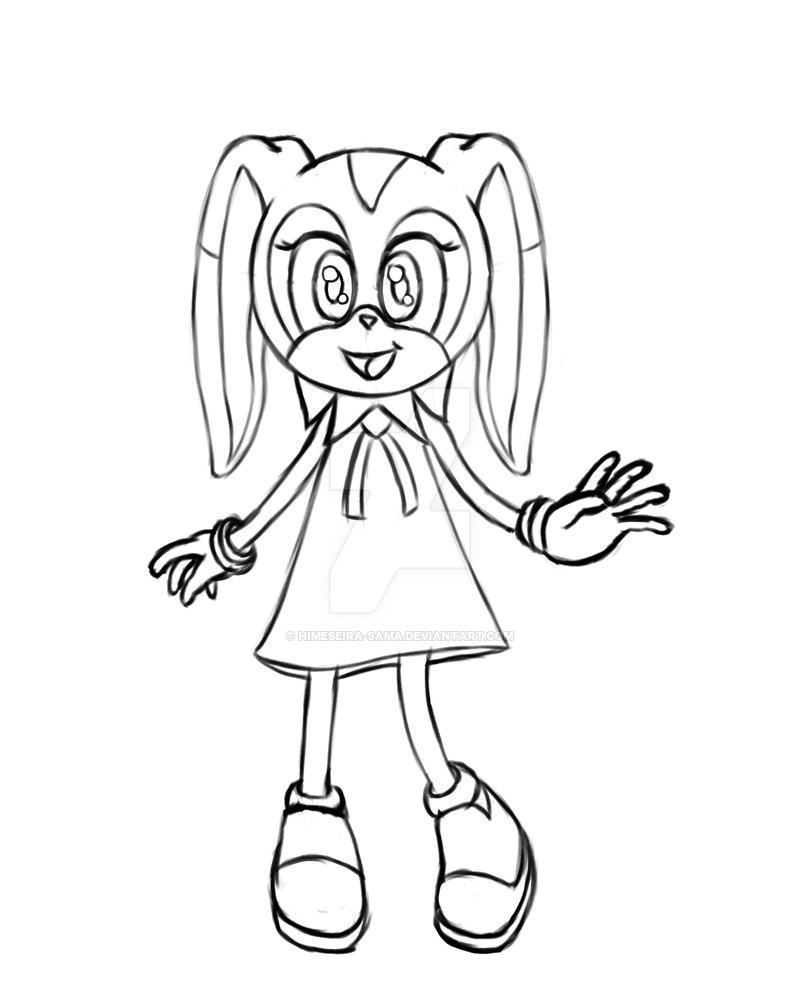 WIP Fanart of Cream - Sketch by HimeSeira-sama
