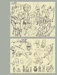 Monster Page of Sketches