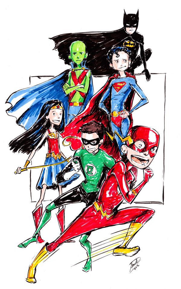 Kid JLA by AmeliaDDraws
