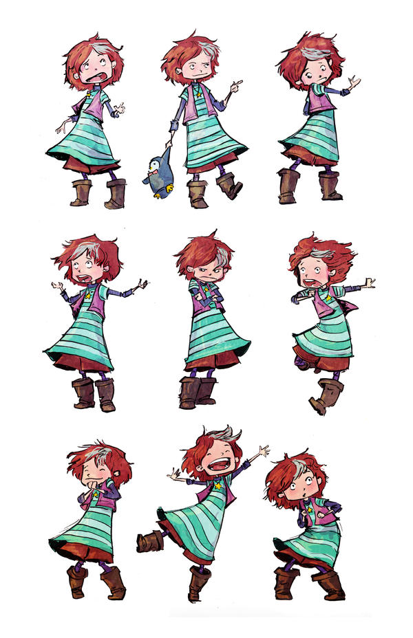 Celeste Pose Sheet in color! by AmeliaDDraws