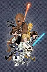Kid Star Wars by AmeliaPenDraws