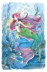 Fancy Ariel by AmeliaPenDraws