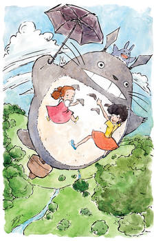 Flying with Totoro