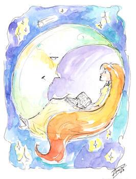 Sun Girl and Moon