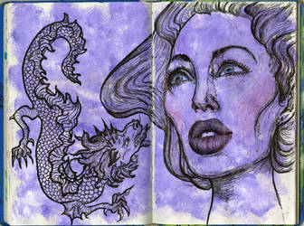 Dragon in Submission by pinupsbykeeegan
