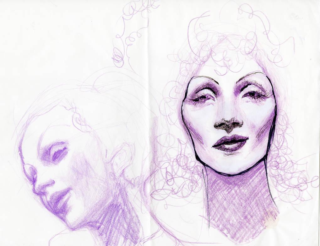 Marlene Studies 1 by pinupsbykeeegan