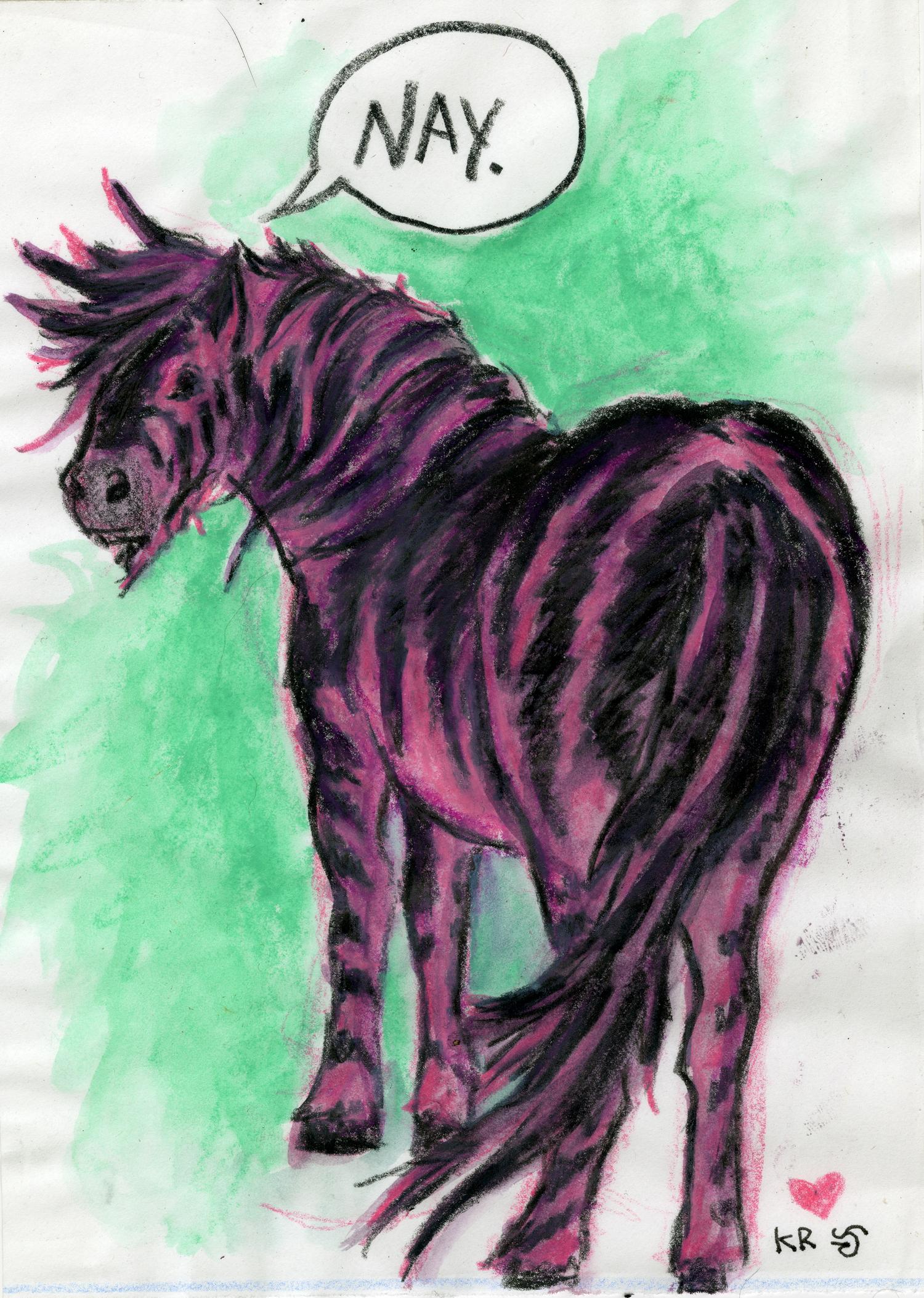 Pink Zebra by pinupsbykeeegan