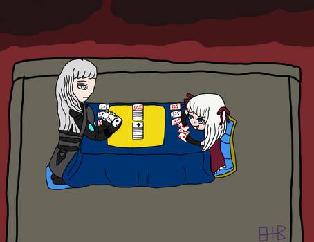 Sabi and Mika Card battle