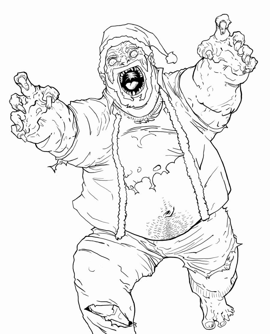 zombie santa outlines by antoniocano on deviantart