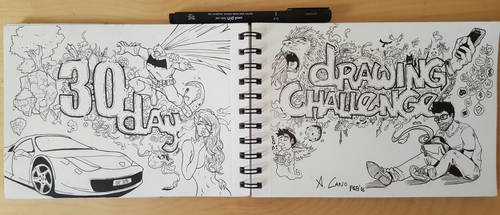 #30 - Congrats banner: 30 day drawing challenge by antoniocano