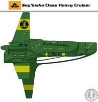 Sey'insha Class Heavy Cruiser by Martechi