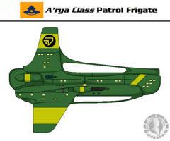 A'rya Patrol Frigate by Martechi