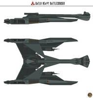 Qatlh Heavy Battlecruiser by Martechi