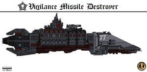 Vigilance Destroyer (Gahmuret Fleet) by Martechi