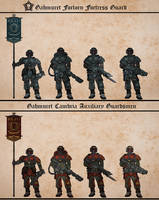 Gahmuret Fortress Guard / Auxiliary Guardsmen by Martechi