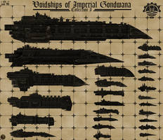 Voidships of Imperial Gondwana (Size Chart I) by Martechi
