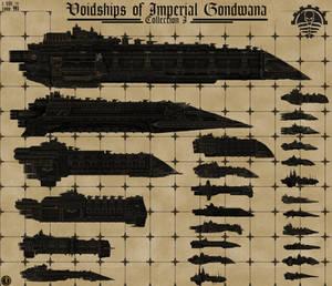 Voidships of Imperial Gondwana (Size Chart I)