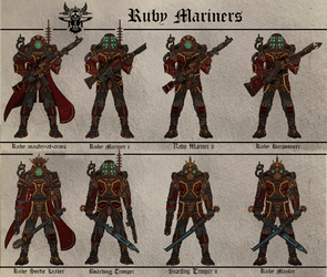Ruby Mariners (Fiefdom of the Crimson Queen) by Martechi