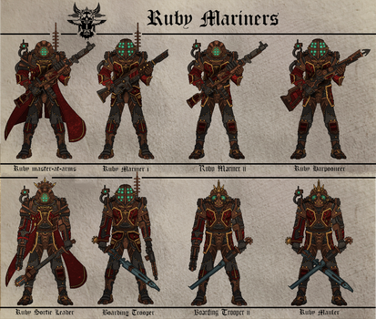 Ruby Mariners (Fiefdom of the Crimson Queen)