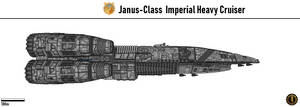 Janus-Class Imperial Heavy Cruiser by Martechi