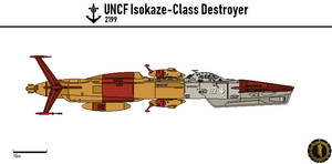 UNCF Isokaze Destroyer by Martechi
