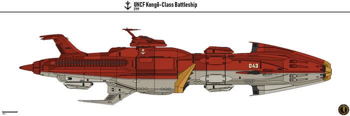 UNCF Kongo Battleship by Martechi