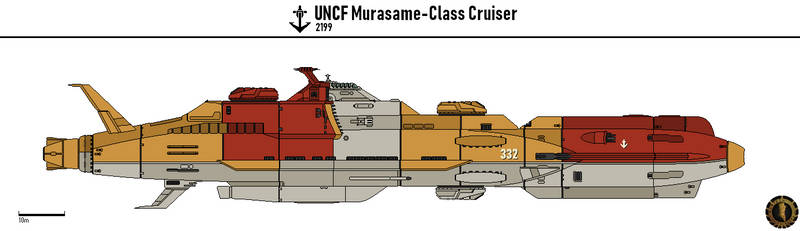 UNCF Murasame Cruiser by Martechi